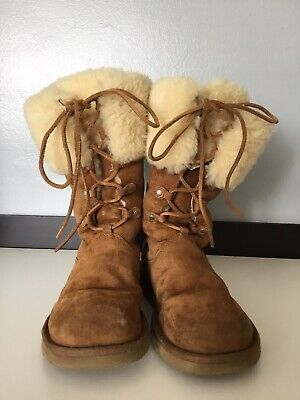 26880a93c8b UGG WOMEN'S BOOTS Size 5.5 cream beige authentic 100% - £36.00 ...