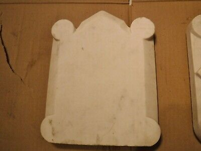 Antique Carved Marble fireplace CREST / PLAQUE Architectural Salvage garden NYC