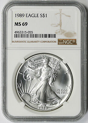 1989 American Silver Eagle $1 MS 69 NGC