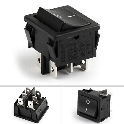 Waterproof R13-33C Rocker Switch 6Pin 2 Position DPDT ON-ON 6A/250VAC 10A 125VAC