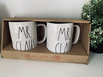 Brand New Rae Dunn MR. CLAUS And MRS. CLAUS Christmas 🎄 Mugs