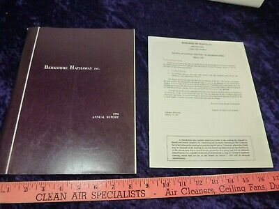 1996 BERKSHIRE HATHAWAY Annual Report WARREN BUFFETT + PROXY Early Rare Vintage
