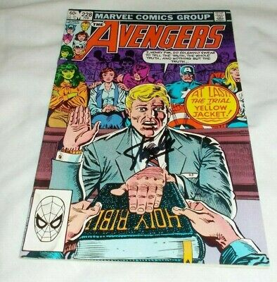 The Avengers # 228 Stan Lee Signed 1983 Captain America Thor