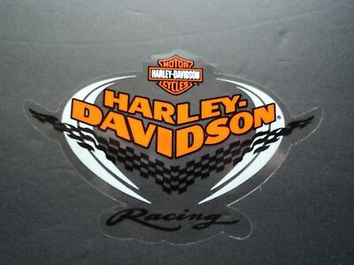 NOS Harley Davidson Motorcycle Racing Inside Window Decal Sticker Parts