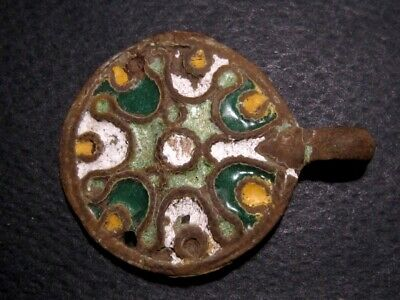 Extremely Rare Compact Byzantine Enamel Decoration Buckle+++
