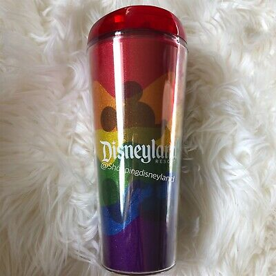 2019 Disney Parks Disneyland Mickey Mouse Tumbler Cup Rainbow Gay Pride Days