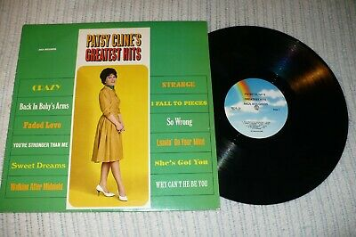 Patsy Cline LP, Greatest Hits, MCA- 12,  VG+