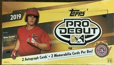 2019 Topps Pro Debut Hobby Baseball Sealed Box- (2 Autos + 2 Relics )