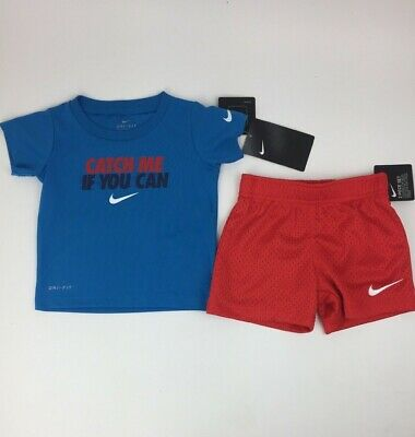 5d49733a3 NEW NIKE BABY and Toddler Boys Graphic Tee & Shorts Set Choose Size ...