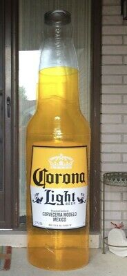 "Corona Light 6 FOOT Huge Inflatable Bottle Blow Up sign ""BIGGER THAN LIFE"" NEW"
