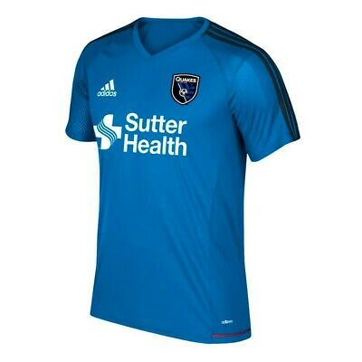 new arrival 42f1a 4dce0 San Jose Earthquakes MLS Adidas Men s Blue Climacool Training Jersey
