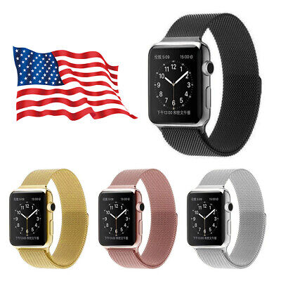 For Apple iWatch Series 4 3 2 1 Magnetic Milanese Loop Watch Band 44 42 40 38mm