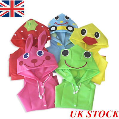 Baby Child Cartoon Waterproof Hooded Rain Coat Kids Jacket Poncho Raincoat