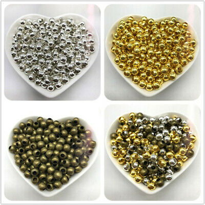 3/4/5/6mm 100pcs Alloy Spacer Beads RFor Jewelry Making DIY Jewelry Findings