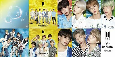 BTS JAPAN Lights/Boy With Luv Set of 5CD's and 7 photocards Official FunClub