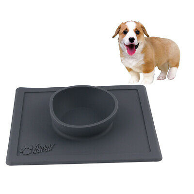 Nontoxic Practical Non-Skid No Spill Food Feeder Silicone Food Bowl for Cats
