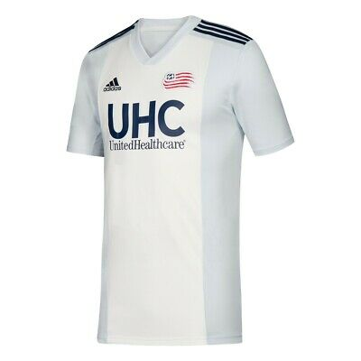 d065e0390 New England Revolution MLS Youth White Official Climalite Team Replica  Jersey