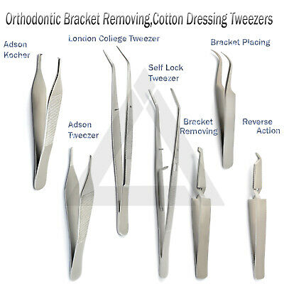 Surgical Instruments & Forceps Serrated Dressing Tweezers Straight & Curved Lab