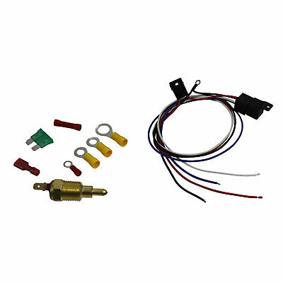 Electric Cooling Thermostat Relay Kit Fan Sensor Temperature Switch Wiring
