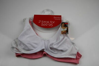 New Ladies Womens Berlei Sweatergirl 2 Pack Underwire Bras Bra White Underwear