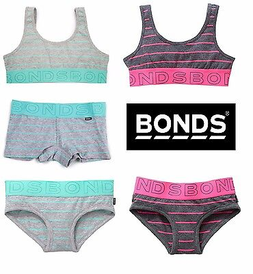 New Girls Kids Bonds Wideband Cotton Briefs Underwear Undies Shorties Crop Top