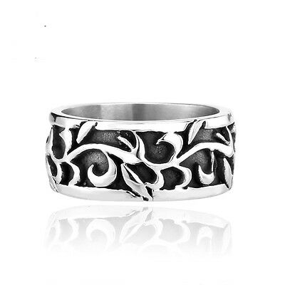 Funky Stainless Steel Gothic Flower Ring