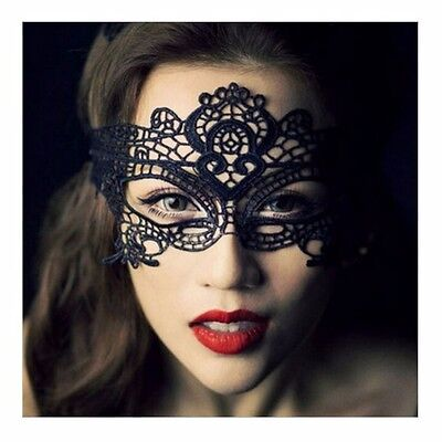 Black Sexy Lace Masquerade Eye Mask Fancy Dress Costume Ball Hens Night Party