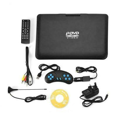 13.9'' Inch Portable HD TV DVD Player 16:9 LCD 270° Swivel Screen 110-240V Black