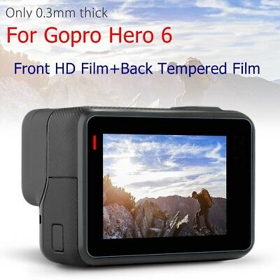 For Gopro Hero 6 Screen Protector/Lens 9H Hardness Tempered Glass Film Cover