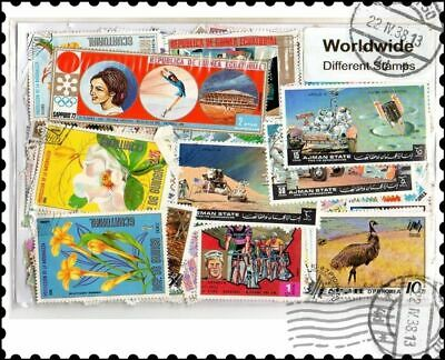 World : 2000 Different Worldwide Stamps Collection