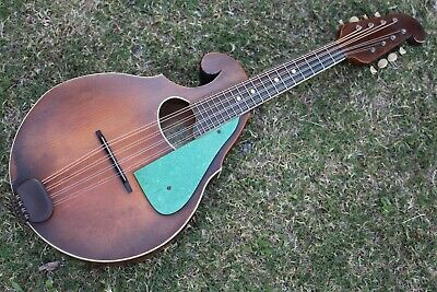 RARE Vintage 1920s Regal Style #107 Reverse Scroll Mandolin Carved Spruce NICE!!