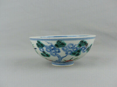 """A Chinese Porcelain Doucai  """"Three Friends Of Winter"""" Bowl Jiaqing Mark"""
