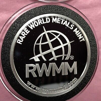 RWMM Rare World Metals Mint 1 Troy Oz .9999 Fine Silver Round Proof Coin 4 x 9's