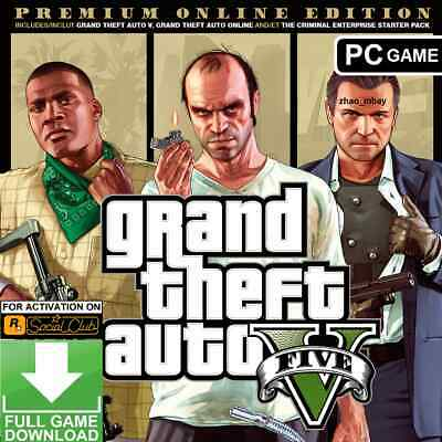 GTA 5 PC Grand Theft Auto V Premium Online Edition ROCKSTAR KEY Global [NO DVD]