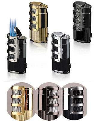 Jobon Triple Jet Torch Flame Cigar Cigarette Lighter Refill Butane Gas Lighter