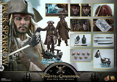 (Au) Hot Toys 1/6 Pirates Caribbean Dead Men Tell No Tales Dx15 Jack Sparrow