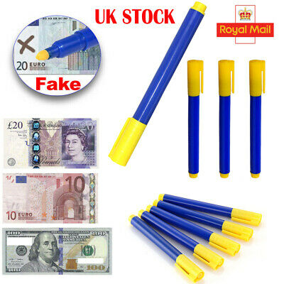 5X Money Tester Checker Pen Bank Note Detector Pens Forged Fake Notes Pen Fraud
