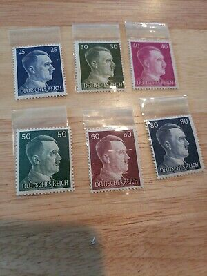Germany 1941 Scott 518-523 - Hitler Heads Nazi Third Reich Set of 6 - MNHOG