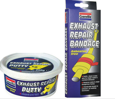 Granville exhaust bandage and exhaust putty repair kit for small holes and leaks