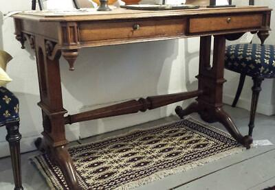 Stunning Victorian Oak Gothic Revival Side Table In The Manner Of Pugin