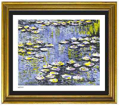 """Claude Monet Signed & Hand-Numbered Ltd Ed """"Water Lilies"""" Litho Print (unframed)"""