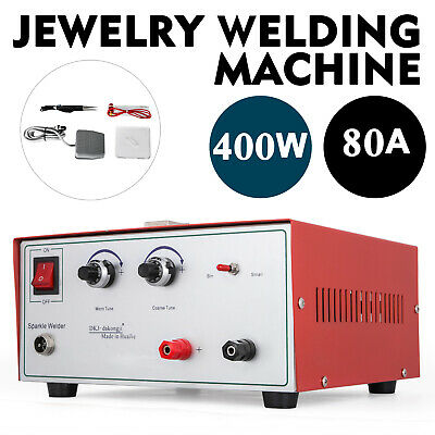 80A 400W Spot Welder Jewelry Welding Machine 220V titan cable pulse sparkle