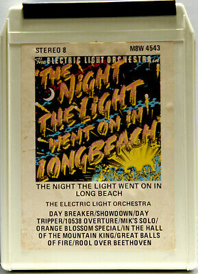 ELECTRIC LIGHT ORCHESTRA Night The Light Went On In Longbeach  8 TRACK CARTRIDGE
