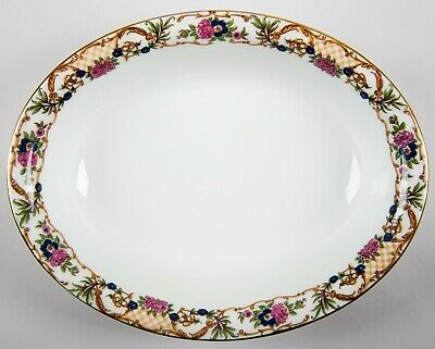 Wm Guerin Limoges France Pattern GUE566 Oval Vegetable Bowl Vintage Porcelain