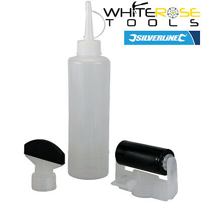Silverline 250ml Menuisiers Colle Kit Bouteille Pva Aliphatiques Buse Roller