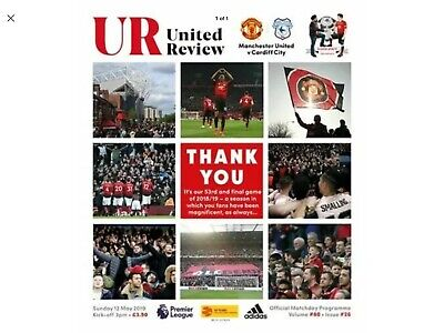 Man Utd Manchester United v  Cardiff City Review Programme 12th May 2019 PL