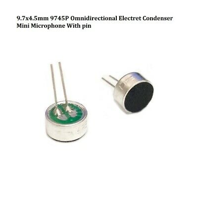 9.7x4.5mm 9745P Omnidirectional Electret Condenser Mini Microphone With pin