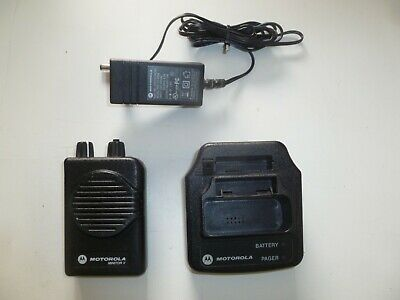 Motorola Minitor V Stored Voice 45-48.9 MHz Low Band TWO Channel Fire EMS Pager
