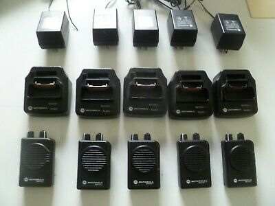 FIVE Motorola Minitor V Stored Voice 45-48.9 MHz Low Band Fire EMS Pagers o274
