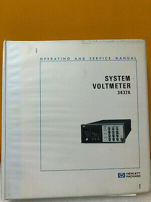 HP / Agilent 03437-90003 HP 3437A System Voltmeter Operating and Service Manual